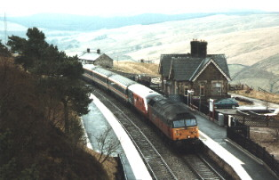 47745 at Dent, highest station in England